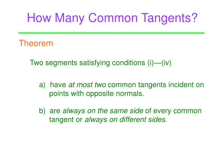 How Many Common Tangents?