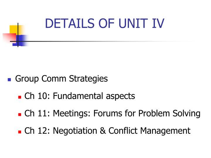Group Comm Strategies