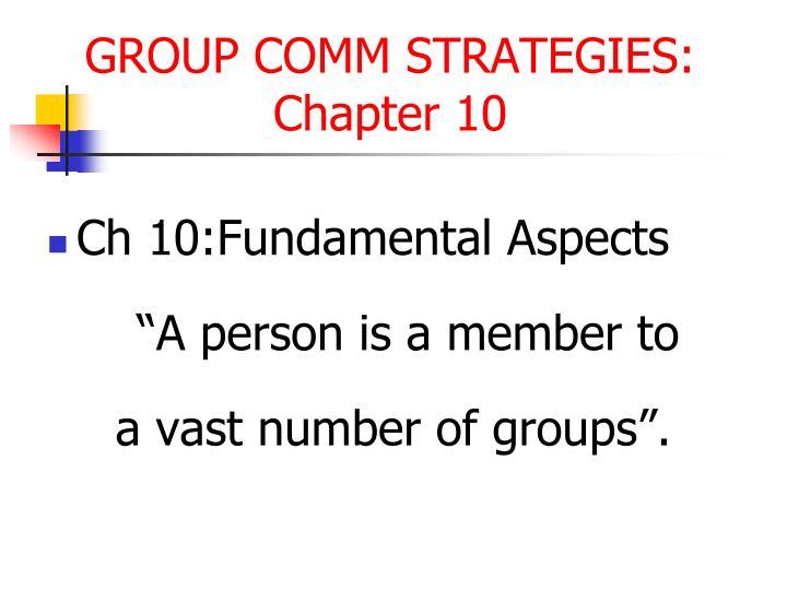 Ch 10:Fundamental Aspects