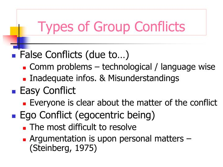 False Conflicts (due to…)