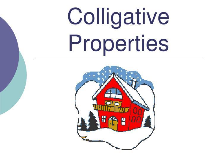 Colligative Properties