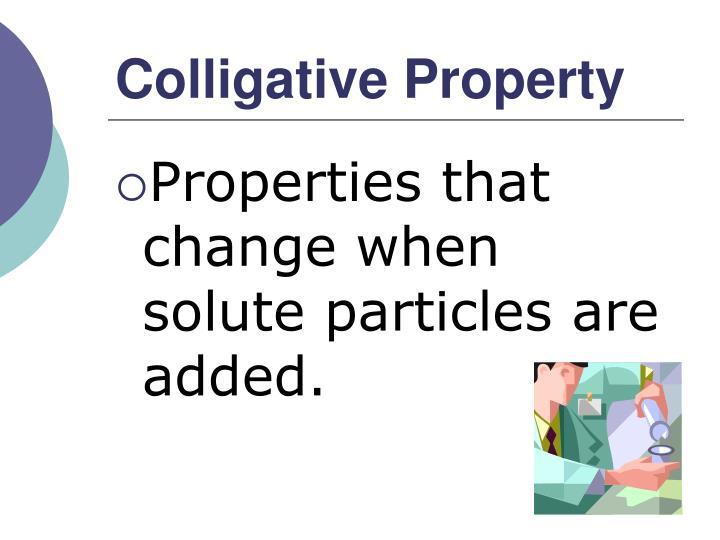 Colligative Property