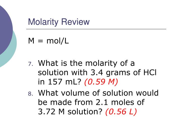 Molarity Review