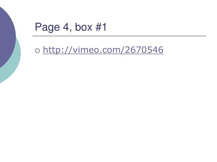 Page 4, box #1