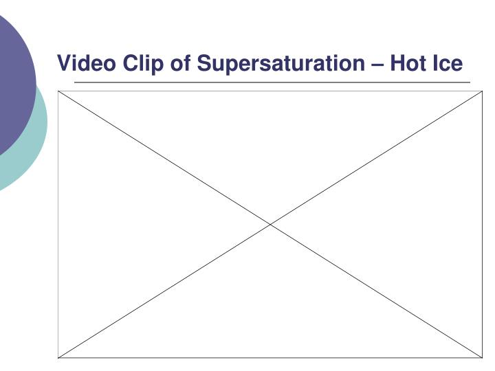 Video Clip of Supersaturation – Hot Ice