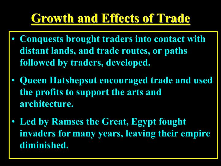 Growth and Effects of Trade