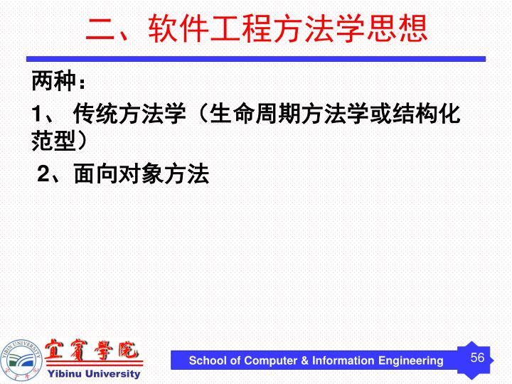 二、软件工程方法学思想