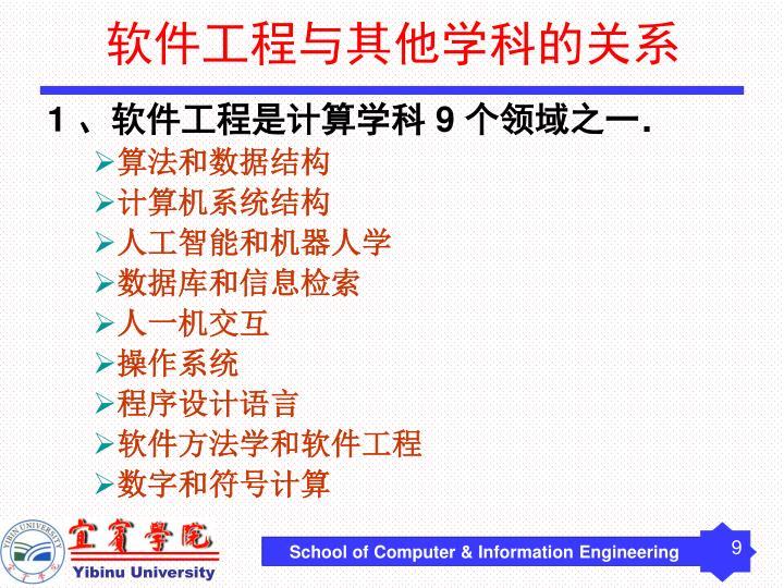 软件工程与其他学科的关系