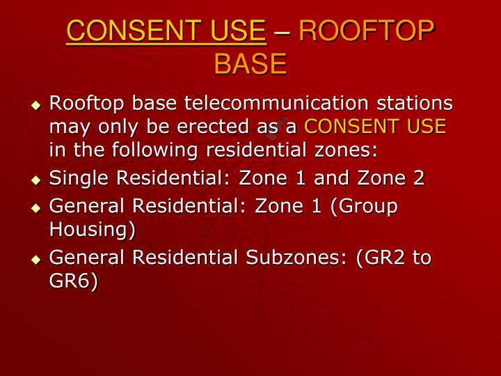 CONSENT USE