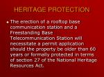 heritage protection