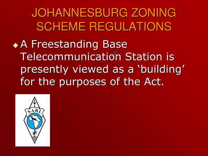 JOHANNESBURG ZONING SCHEME REGULATIONS