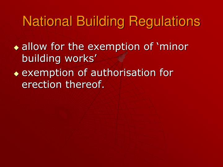 National Building Regulations