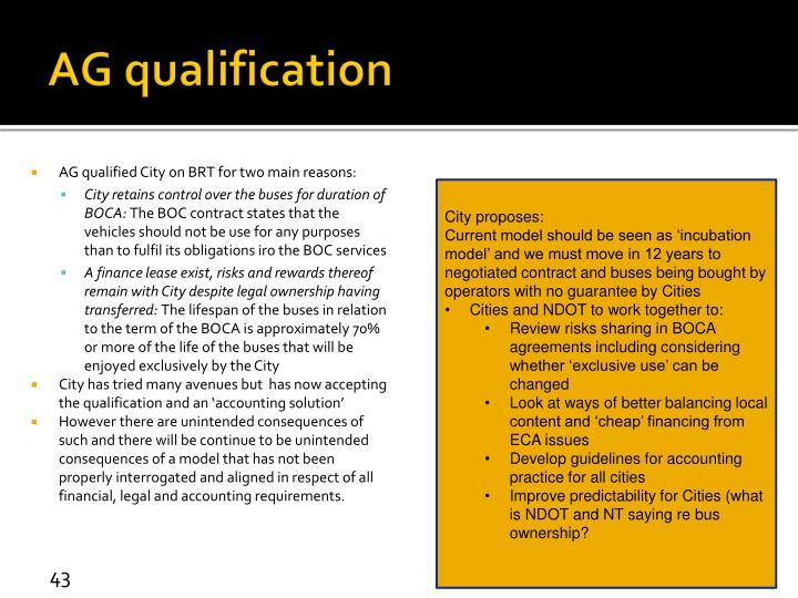 AG qualification