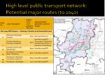 high level public transport network potential major routes to 20401