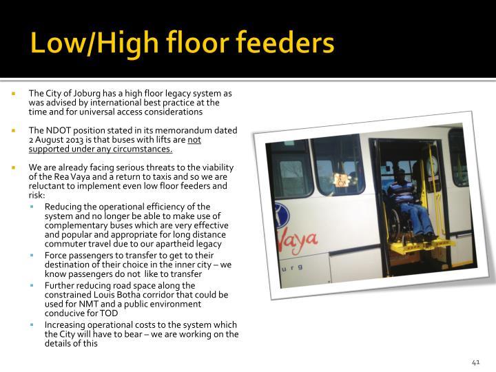 Low/High floor feeders