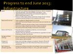 progress to end june 2013 infrastructure
