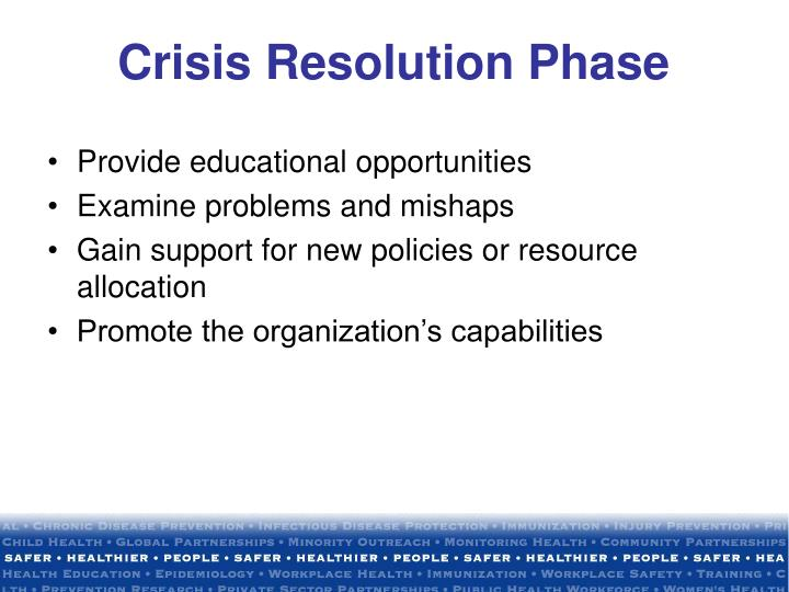 Crisis Resolution Phase
