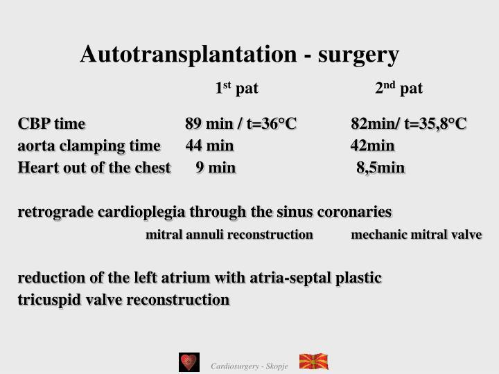 Autotransplantation - surgery
