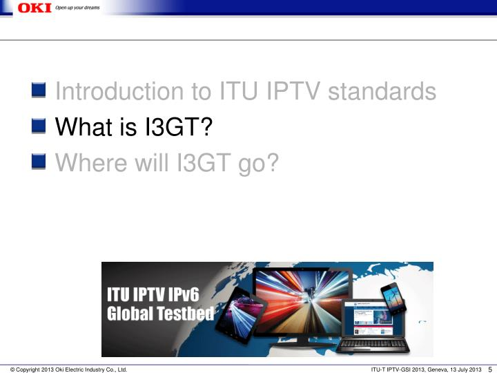 Introduction to ITU IPTV standards