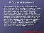 50 years worldwide experience1