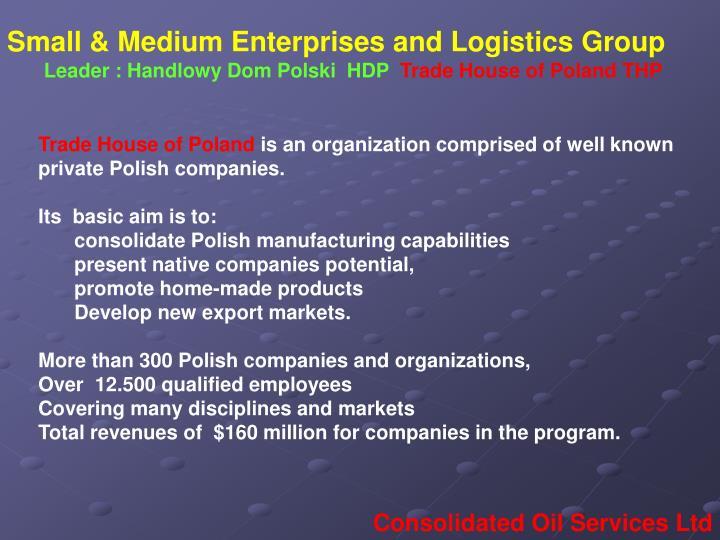 Small & Medium Enterprises and Logistics Group