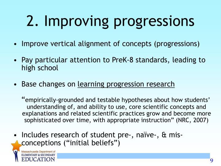2. Improving progressions
