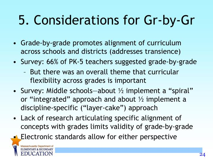 5. Considerations for Gr-by-Gr