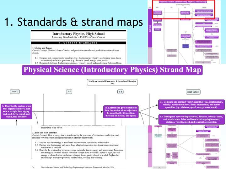 1. Standards & strand maps