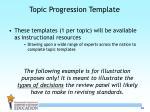 topic progression template2