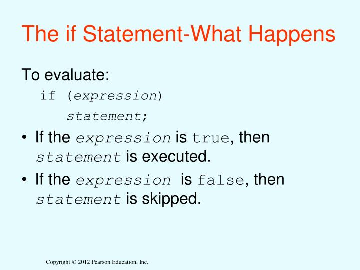 The if Statement-What Happens