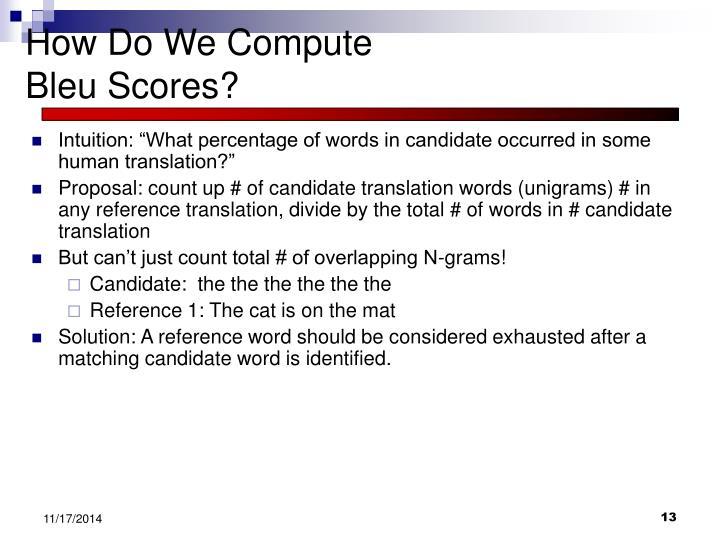 How Do We Compute