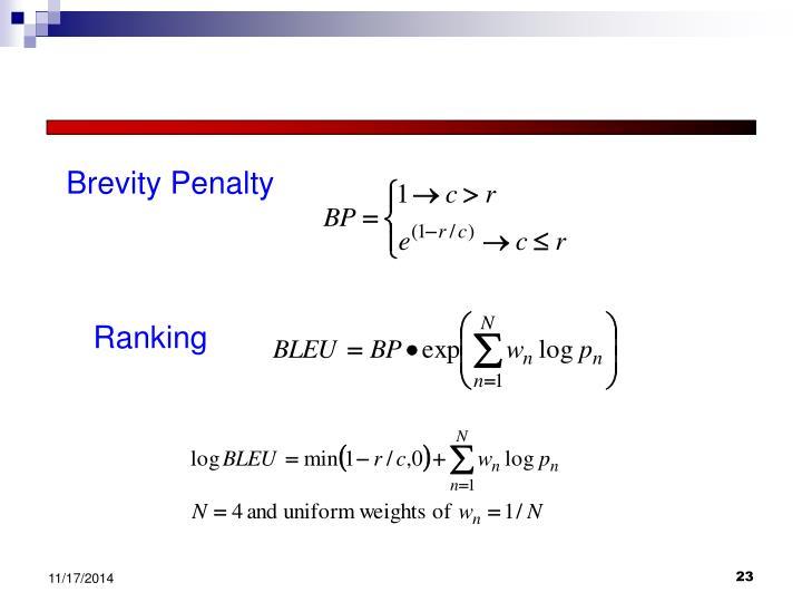 Brevity Penalty