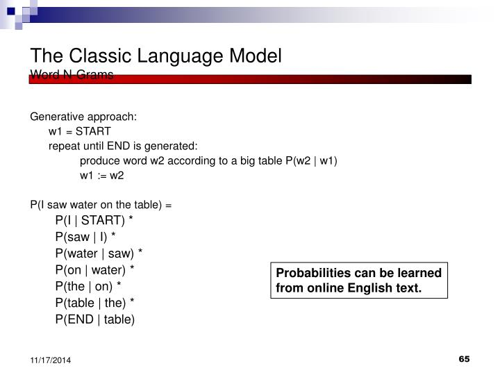 The Classic Language Model