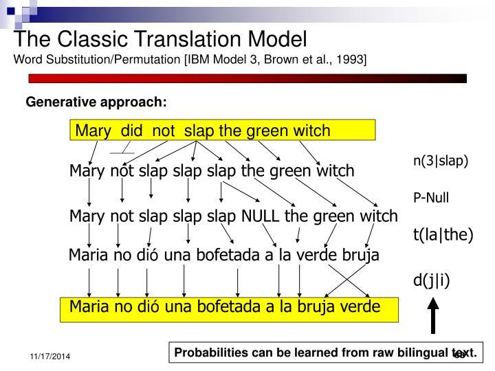 The Classic Translation Model
