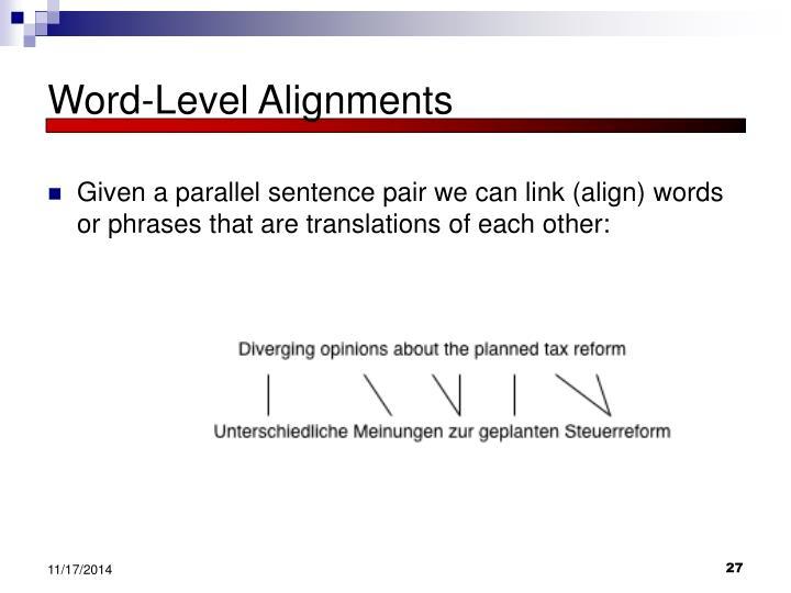Word-Level Alignments