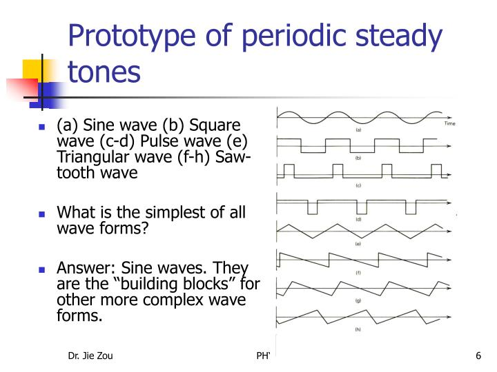 Prototype of periodic steady tones