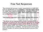 free text responses2