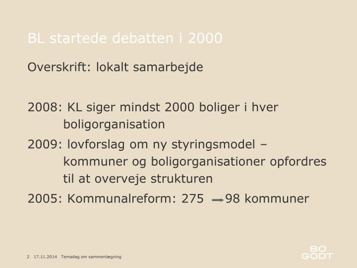 BL startede debatten i 2000