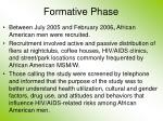 formative phase