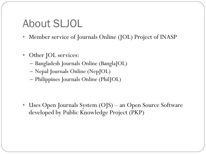 About SLJOL