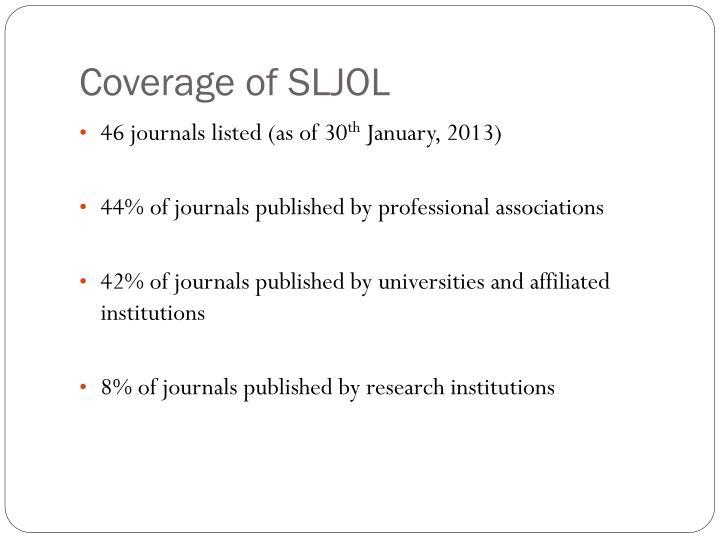 Coverage of SLJOL