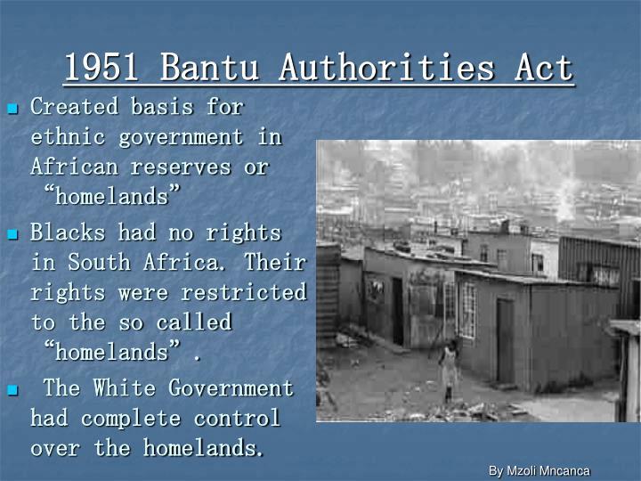 1951 Bantu Authorities Act