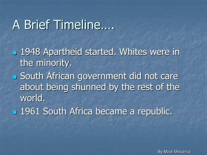 A Brief Timeline….