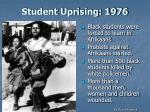 student uprising 1976