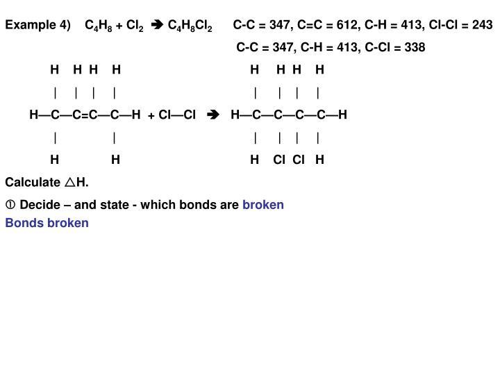 Example 4)    C