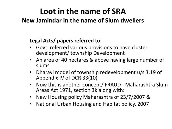Loot in the name of SRA
