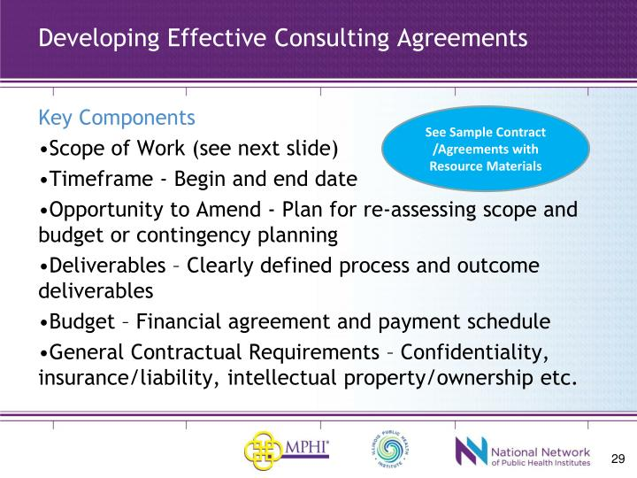 Developing Effective Consulting Agreements