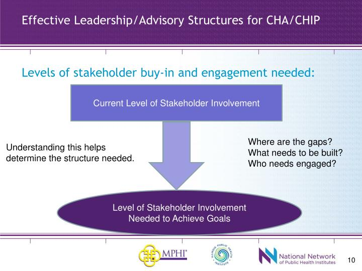 Effective Leadership/Advisory Structures for CHA/CHIP