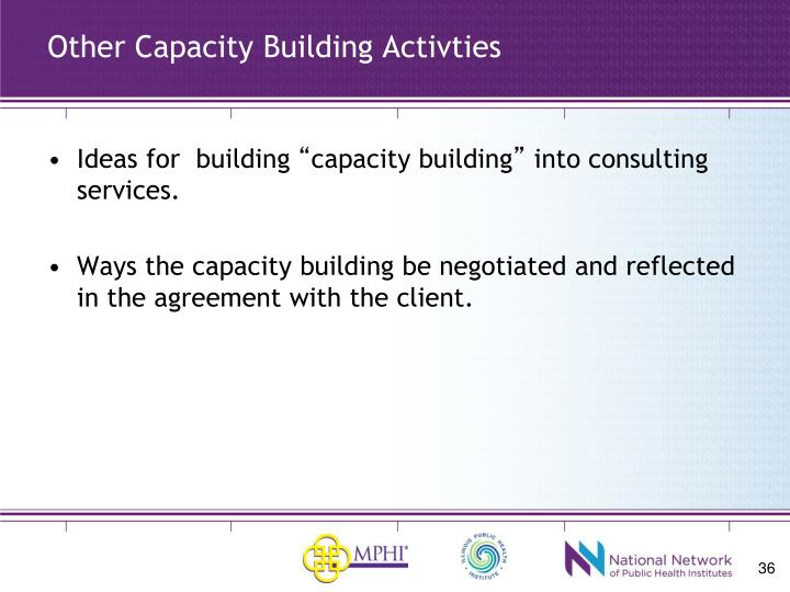 Other Capacity Building Activties