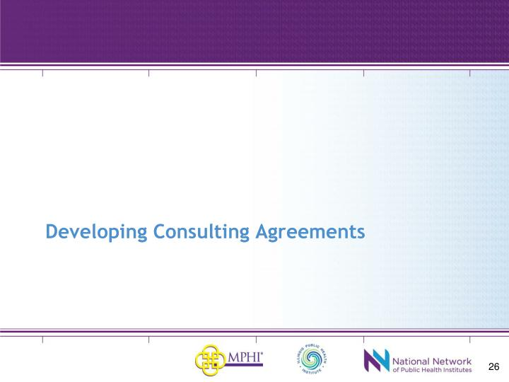 Developing Consulting Agreements